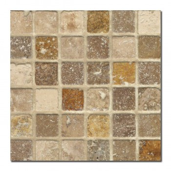 gold beige noce travertine mozaiek_